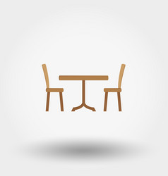 dining table with chairs vector image