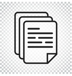 document icon paper sheet simple pictogram vector image