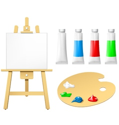easel with blank board vector image