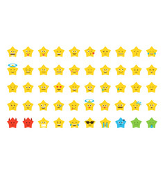 Emoji star set vector