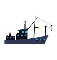 Fishing boat icon vector