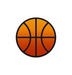 Flat basketball icon vector image