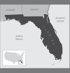Florida region map vector