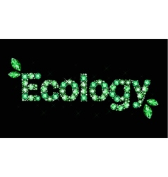 Gem word ecology vector