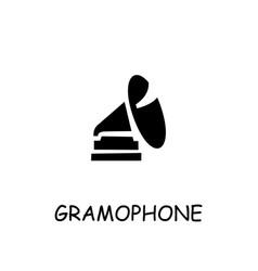 Gramophone flat icon vector