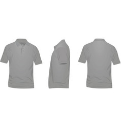Gray polo t shirt vector