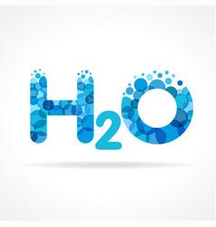 H2o water logo vector