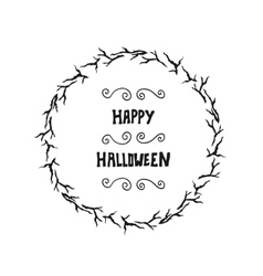 Halloween lettering greeting card background vector image