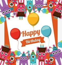 Happy birthday card design vector