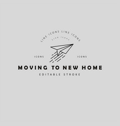 icon and logo for moving to a new home vector image