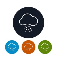 Icon cloud with hail vector