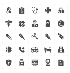 icon set - healthcare and medical filled icon vector image