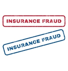 Insurance Fraud Rubber Stamps vector image