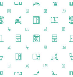 Interior icons pattern seamless white background vector