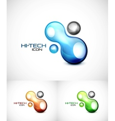 Liquid abstract icon vector image