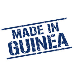 made in guinea stamp vector image