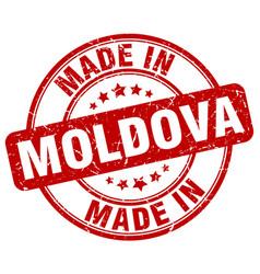 Made in moldova red grunge round stamp vector
