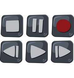 Media playback icons vector