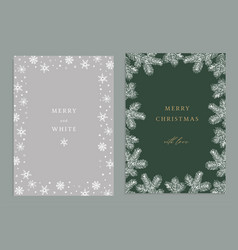 Merry christmas happy new year decorative vintage vector