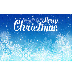 merry christmas lettering white snowballs vector image