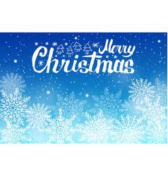 merry christmas lettering white snowballs vector image