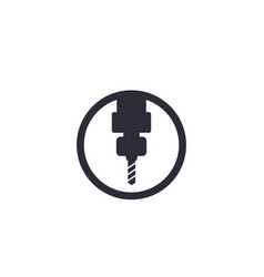 Milling machine icon vector