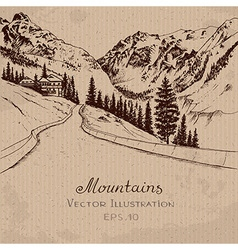 Mountain Road vector image