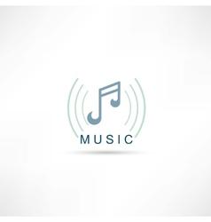 Music symbol icon vector image