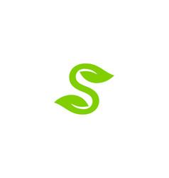 nature letter s logo icon design vector image