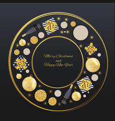 new year and merry christmas background vector image