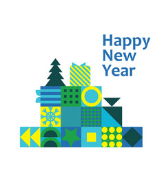 new year christmas greeting card poster vector image
