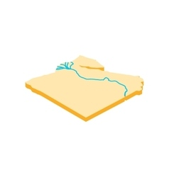 Nile river icon isometric 3d style vector image vector image