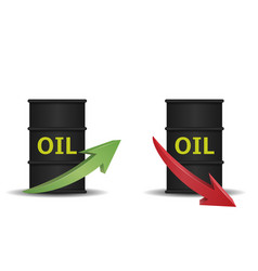 oil barrel with arrow vector image