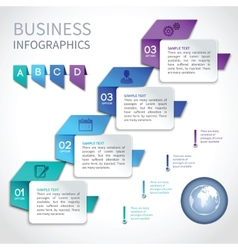 Origami infographics business template vector image
