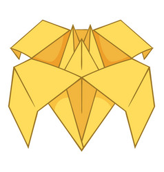 origami lily icon cartoon style vector image