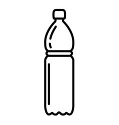 Outline plastic bottle icon vector
