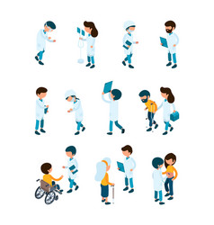 patient and doctors medical staff and patients vector image