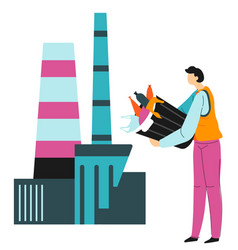 Recycling waste litter pollution and nature vector