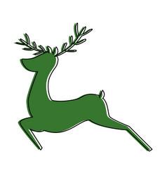 reindeer animal isolated icon vector image