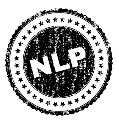 Scratched textured nlp stamp seal vector