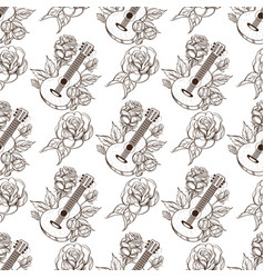 Seamless pattern from outline drawings of the vector