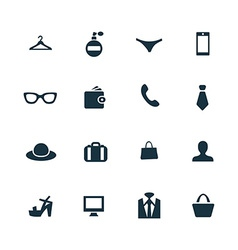 set of accessories icons vector image