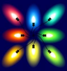 set of Christmas lights vector image vector image