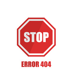 sign stop on a white background in flat style vector image