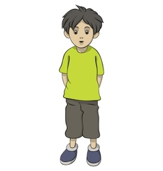 Standing boy vector
