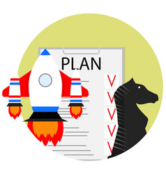 Strategic start-up plan vector