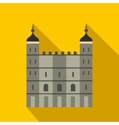 Tower of London in England icon flat style vector image