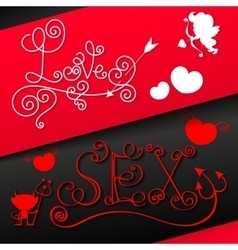 Valentine s dayGreeting card vector image vector image
