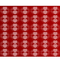 Valentines day paper heart card vector image