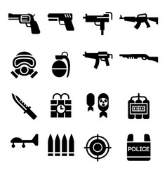 Weapon icon vector